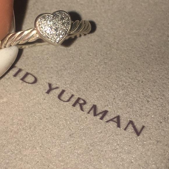 8b4c9b87120a1f David Yurman Jewelry - David Yurman Petite Pave Heart Ring With Diamonds